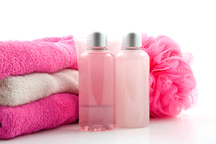 pink bathroom and spa accessory
