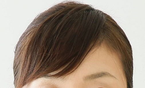 ななめ前髪