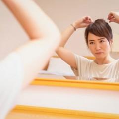 髪の分け目を変える方法