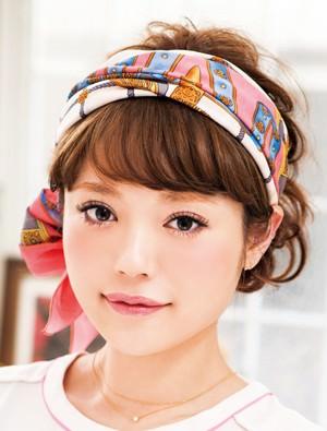 おしゃれ☆スカーフを使ったショートアレンジ