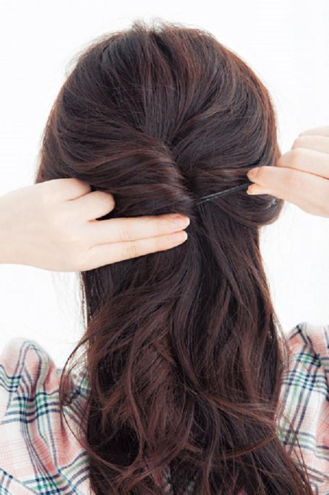 アクティブ三つ編み step1