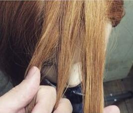 前髪編み込みヘア1
