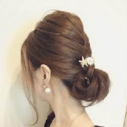 編み込み風こなれシニヨンヘア♡ ヘアアレンジ ミディアムヘア