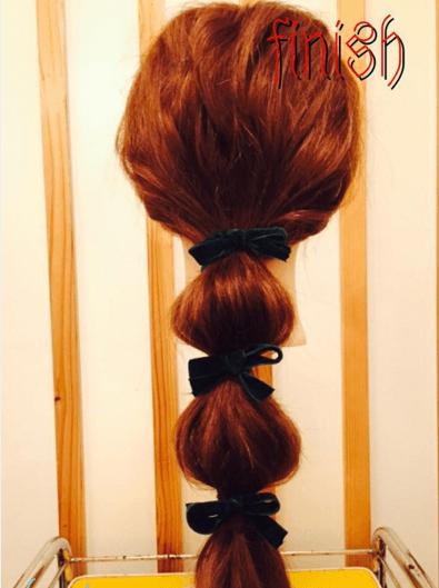 基本の「たまねぎヘア」の作り方