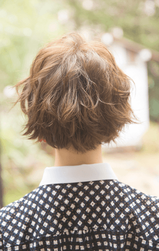 ショートヘアにおすすめ!前髪ねじりアレンジバック