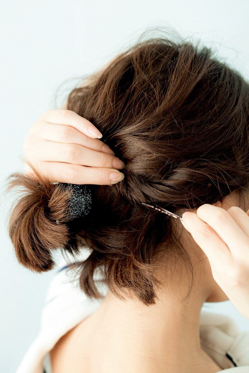 ボブでスッキリまとめ髪スタイル3
