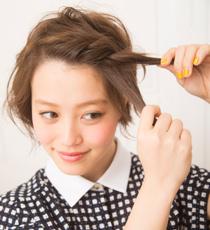 ショートヘアにおすすめ!前髪ねじり3