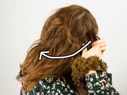 肩に流れる三つ編みヘアアレンジ1