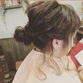 下めコンパクトが美人バランス!シニヨンヘア★5