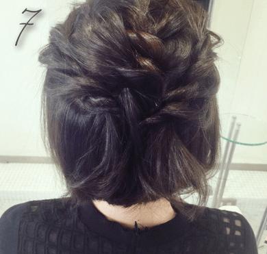 ねじり編みで作る、ハート型ハーフアップ♡♡7