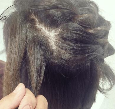 ねじり編みで作る、ハート型ハーフアップ♡♡6