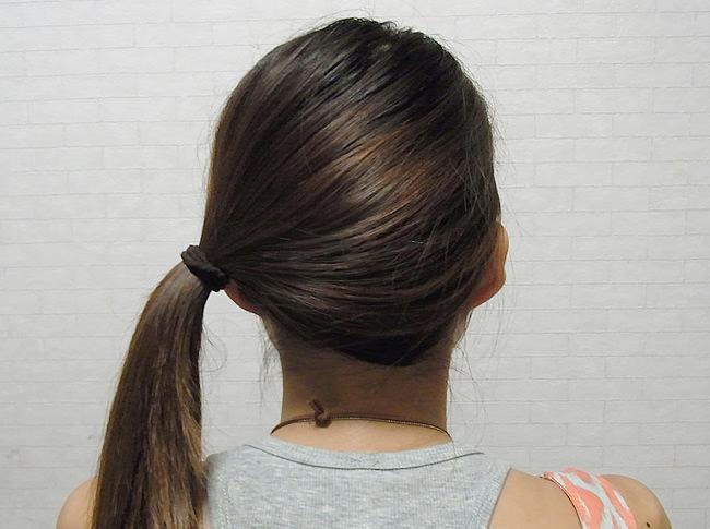 髪の毛の量が多くても安心!サイドお団子アレンジ1