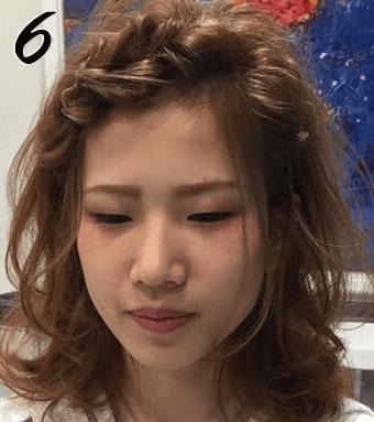 無造作ふわくしゃ編み込み風前髪6
