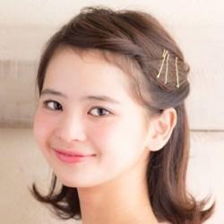 ☆カジュアルで行きたい女子会には金ピン×外ハネ☆ ヘアアレンジ ミディアムヘア