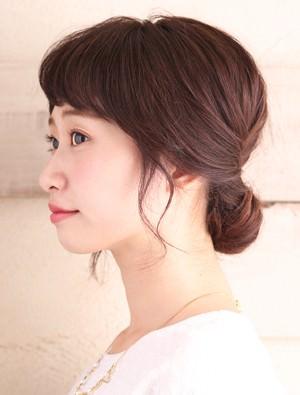 ♡2段階くるりんぱでつくる簡単オシャレなローシニョン♡side