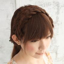 編み込みで進化系カチューシャアレンジ☆ ヘアアレンジ ロングヘア