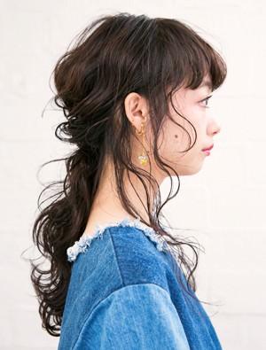 ☆人と差がつく!こぼれ毛いっぱいのローポニーテール☆side