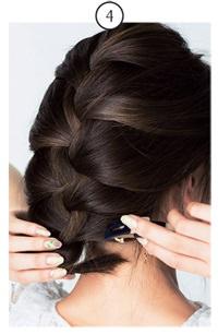 簡単なのにきちんと感!ざっくり編み込みヘア4