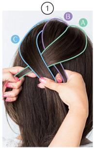 簡単なのにきちんと感!ざっくり編み込みヘア1