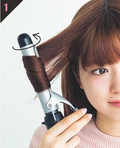 巻き髪の基本!MIX巻き