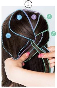 簡単なのにきちんと感!ざっくり編み込みヘア3