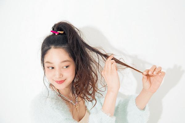 ♡超ロング×ヘルシー色気の今どきポニーテール♡step3