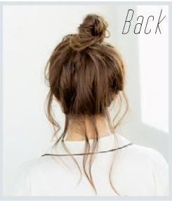 ルーズなおくれ毛がかわいい♪くしゅくしゅお団子アレンジback