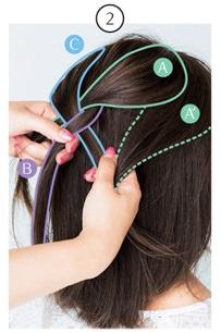 簡単なのにきちんと感!ざっくり編み込みヘア2