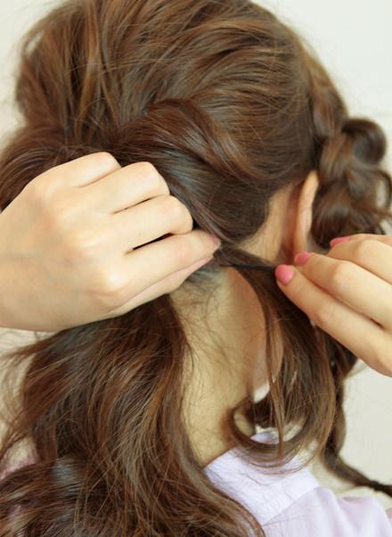 上品で華やかにまとめ髪