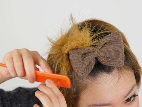 リボンがかわいい♪華やか前髪アレンジ4