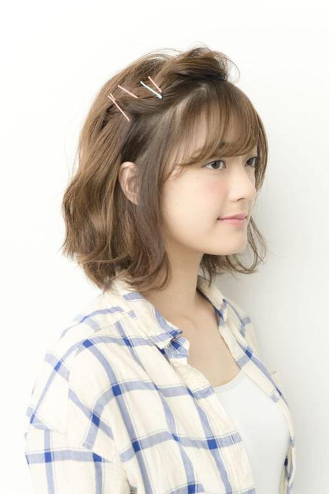 透け感のある前髪ですっきり&トレンド感♪side