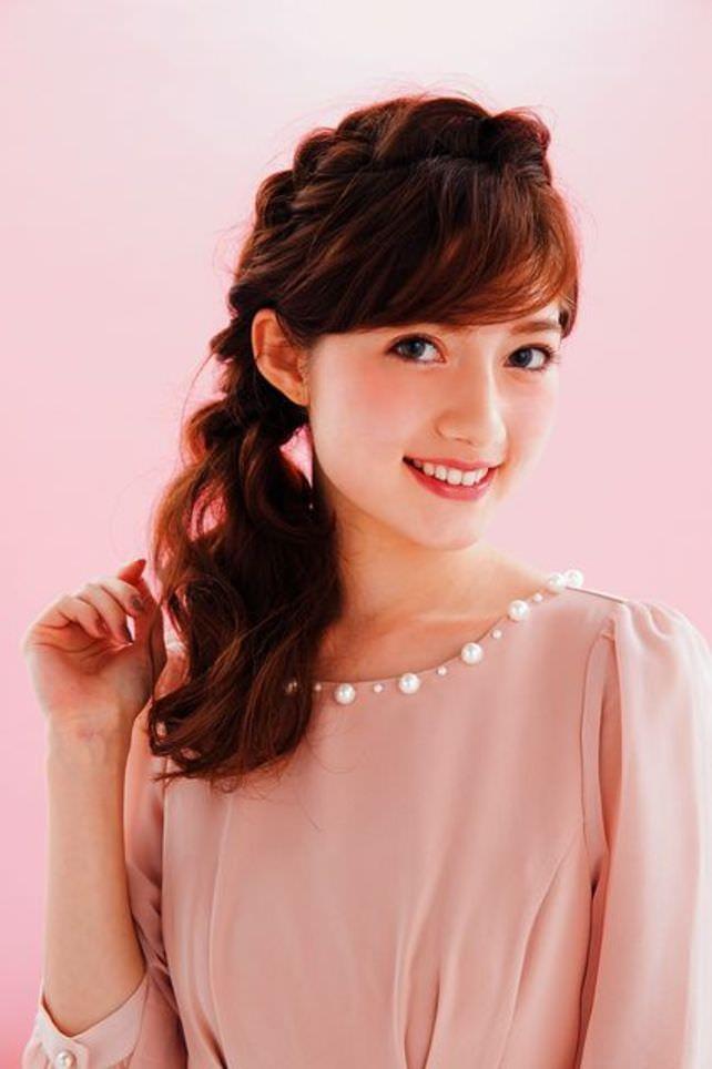 サイド三つ編みで平愛梨みたいな令嬢ヘアに♥