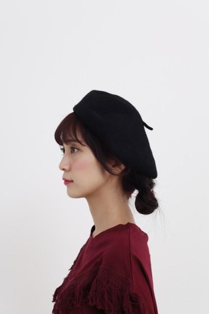 『黒い十人の女』のトリンドル玲奈みたいにかわいく!ベレー帽でヘアアレンジside