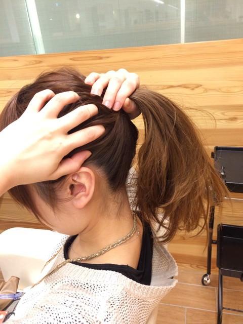 深田恭子さんみたいに上品&キュートな女性に♪くるりんぱポニテ1