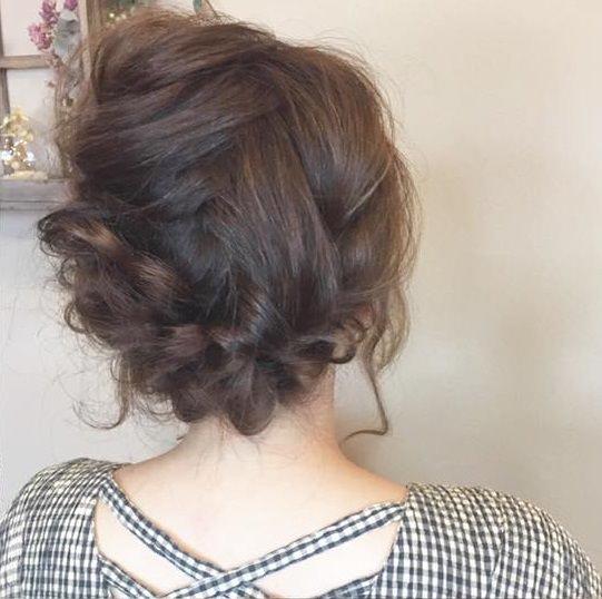憧れの森絵梨佳さんみたいに♡おフェロなアップヘアSIDE