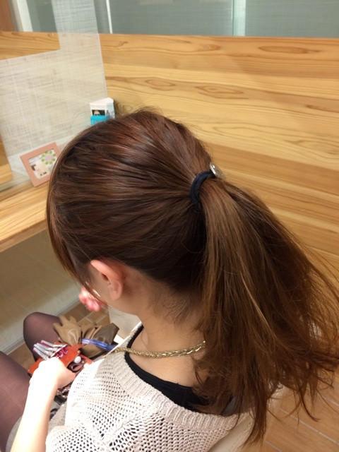 深田恭子さんみたいに上品&キュートな女性に♪くるりんぱポニテ2
