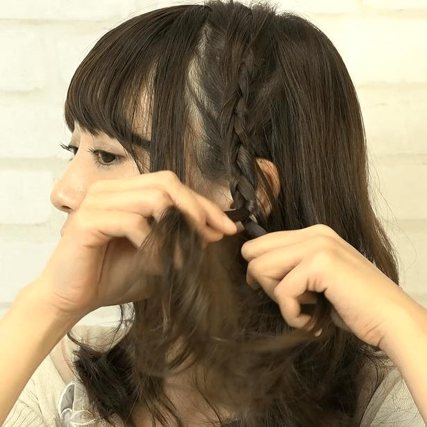 ミディアムヘアにおすすめ!ミックス編みアレンジ1