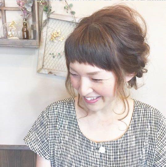 憧れの森絵梨佳さんみたいに♡おフェロなアップヘア完成