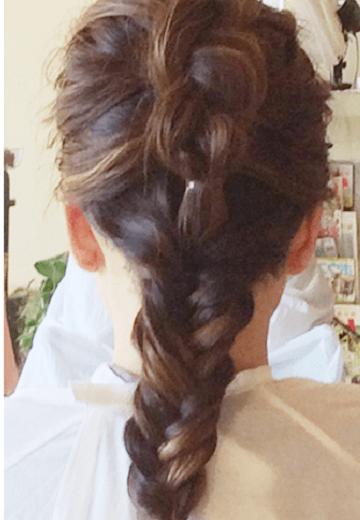 みるきーみたいな甘い雰囲気になれる♪バック編み込みヘア3