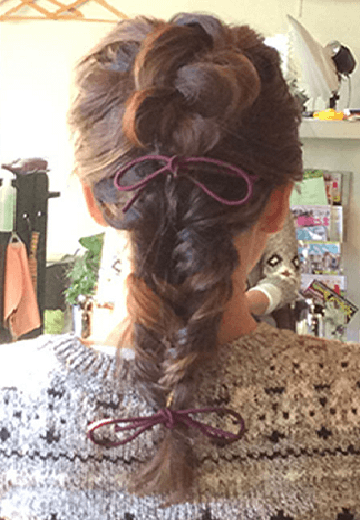 みるきーみたいな甘い雰囲気になれる♪バック編み込みヘア