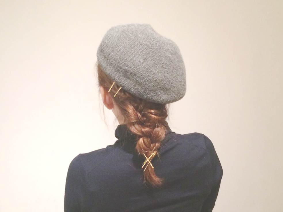 帽子に合う!編み込みがかわいいカジュアルスタイル☆
