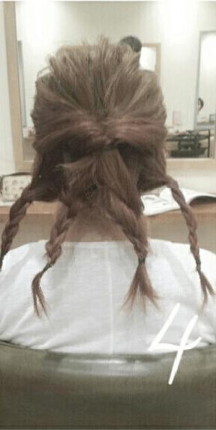 デコルテがキレイに見える♪すっきり&華やかまとめ髪4