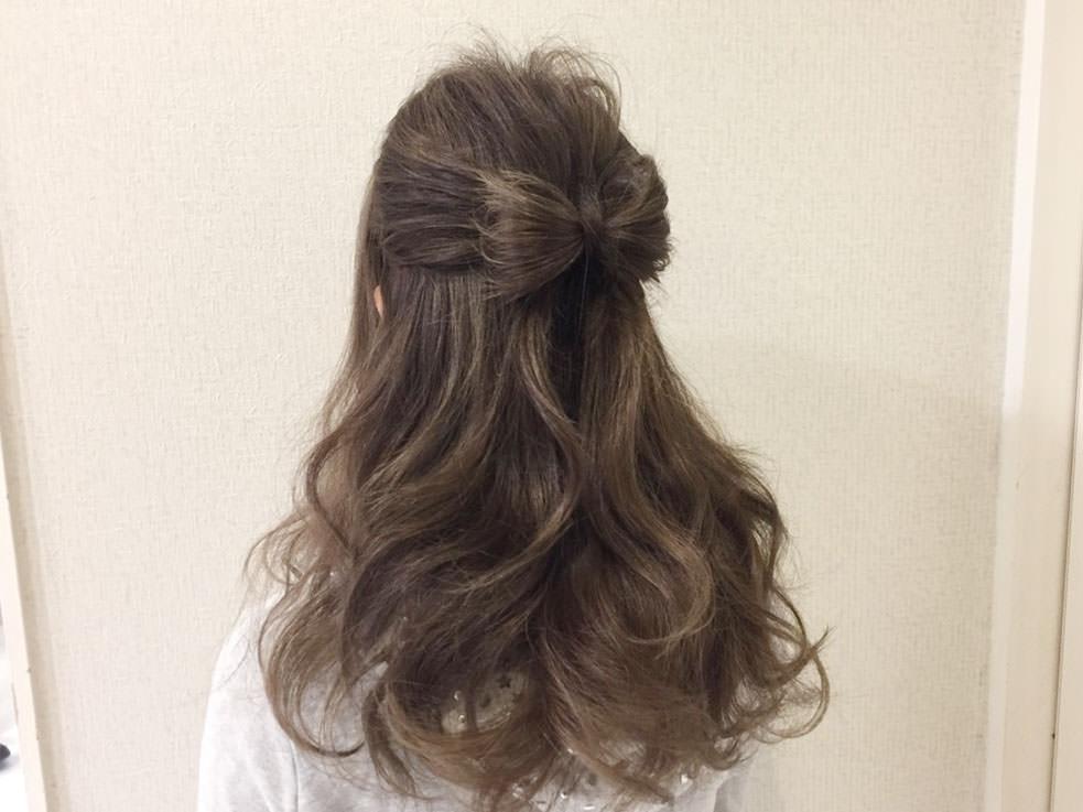 自分の髪で作るリボンハーフアップの作り方TOP