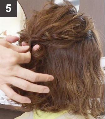 ボブヘアでも出来る!三つ編みハーフアップヘアアレンジ☆5