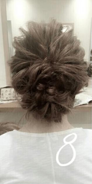 デコルテがキレイに見える♪すっきり&華やかまとめ髪8