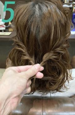 長い前髪でつくる!キュートな編み込みアレンジ5
