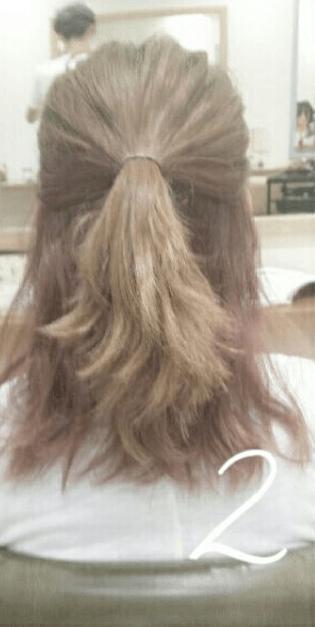 デコルテがキレイに見える♪すっきり&華やかまとめ髪2