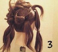 リボンヘアの作り方!地毛だけで出来るヘアアレンジ☆3