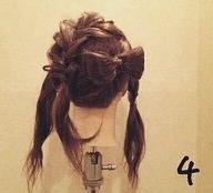 リボンヘアの作り方!地毛だけで出来るヘアアレンジ☆4
