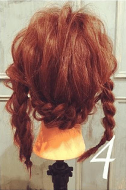 三つ編みだけで出来るオシャレまとめ髪☆4